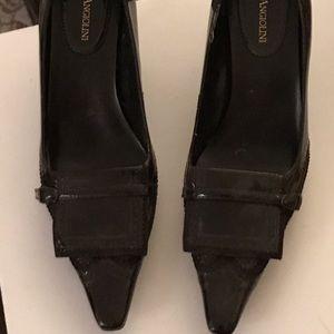 Enzo Angioloni dark brown heels 6M Brand new
